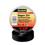 3M Scotch Super 33+ Black Insulating Tape - 1 in x 36 yd - 7 mil Thick - 08949