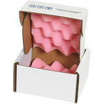 Shipping Supply Pink/White Anti-Static Foam Shippers - 5 in x 5 in x 3 in - SHP-13099