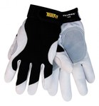Tillman TrueFit 1470 White/Black Large Grain Goatskin Leather Work Gloves - 1470/L