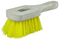 Weiler 440 Utility Scrub Brush - Yellow Polypropylene Bristle - Hardwood Block - 8 in Overall Length - 44013