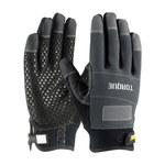 PIP Maximum Safety 120-4500 Black/White Large Cotton/Nylon/Polyester/Polyurethane/Spandex/Synthetic Leather Mechanic's Gloves - Foam/PVC/Silicone Palm & Over Knuckles Coating - 120-4500/L