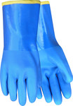 Red Steer Bruin 194 Large Acrylic/Terry Cloth Work Gloves - PVC Full Coverage Coating - 12 in Length
