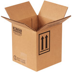 Shipping Supply Kraft 1 Gallon Haz Mat Boxes - 6.875 in x 6.875 in x 7.875 in - SHP-2212
