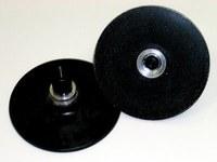 3M 28576 Hard Black Roloc TS and TSM Disc Pad - 4 in DIA - 3/8 - 24 Internal Thread Attachment