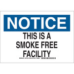 Brady Prinzing B-401 Polystyrene Rectangle White No Smoking Sign - 14 in Width x 10 in Height - 46941