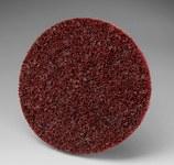 3M Scotch-Brite SL-DR Non-Woven Aluminum Oxide Maroon Quick Change Disc - Medium - 3 in Diameter - 33790