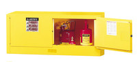 Justrite Sure-Grip EX 12 gal Yellow Steel Hazardous Material Storage Cabinet - 43 in Width - 18 in Height - 697841-11242