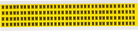 Brady 34 Series 3400-M Black on Yellow Vinyl Cloth Letter Label - Indoor - 1/4 in Width - 3/8 in Height - 1/4 in Character Height - B-498