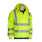 PIP 353-2000 Yellow Large Polyester Rain Jacket - 5 Pockets - Attached Hood - Fits 54 in Chest - 28 in Length - 616314-10014