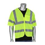 PIP Hi-Vis Yellow Large/XL Polyester Mesh High-Visibility Vest - 1 Pockets - 616314-24548