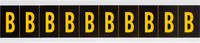 Brady 7897-B Yellow on Black Vinyl Letter Label - Indoor / Outdoor - 7/8 in Width - 2 1/4 in Height - 1 15/16 in Character Height - B-946