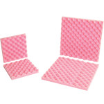 Shipping Supply Pink Anti-Static Foam Sheets - 12 in x 12 in x 2 in - SHP-11726