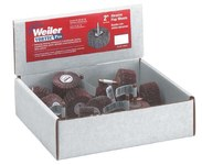 Weiler Aluminum Oxide Flap Wheel Set - Fine, Medium Grade(s) Included - 1 in Diameter Included - 36500