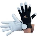Impacto 413-30 Black/White Large Leather/Nylon/Spandex/Visco-Elastic Polymer Work Glove - 41330110040