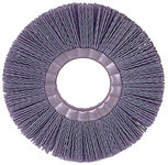 Weiler Silicon Carbide Wheel Brush 0.035 in Bristle Diameter 180 Grit - Arbor Attachment - 14 in Outside Diameter - 5 1/4 in Center Hole Size - 20730