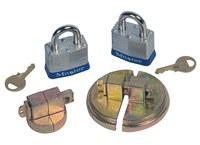 Justrite Master Lock Zinc Drum Plug Locking Device - 55 gal Steel Drum Compatibility - 697841-13221