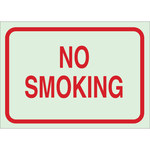 Brady Bradyglo B-347 Polyester / Polystyrene Rectangle Green No Smoking Sign - 10 in Width x 7 in Height - 85482