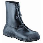 Servus SF 11924B Black Large Waterproof & Rain Overboots/Overshoes - 12 in Height - Leather/PVC Upper and Rubber Sole - 11924B SZ LG