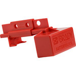 Brady 175A to 350A Red Electrical Plug Lockout 150841 - 3.15 in Width - 5.25 in Height - 754473-62378