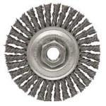 Dynabrade Steel Wheel Brush 0.02 in Bristle Diameter - Arbor Attachment - 4 in Outside Diameter - 78809