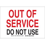 Brady B-302 Polyester Out of Service Sign - Laminated - 122701