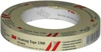 3M 2308 Tan Masking Tape - 18 mm Width x 55 m Length - 46545