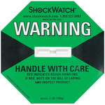 Shipping Supply Green 100G Shock Watch Indicators - 1.8 in x 1.1 in x.2 in - SHP-8361