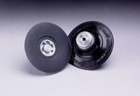 3M 14201 Medium Black Roloc TP Disc Pad - 3 in DIA - 1/4 - 20 Internal Thread Attachment