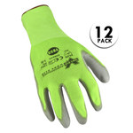 Valeo V850 Green Large Nylon Work Gloves - Polyurethane Palm & Fingers Coating - VI9625LG