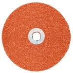 3M Cubitron II 987C Coated Ceramic Aluminum Oxide Orange Quick Change Disc - Fiber Backing - 36 Grit - Very Coarse - 5 in Diameter - 27728