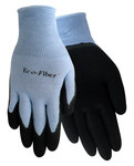 Red Steer Eco-Fiber 1151 Black/Pink/Purple Large Bamboo Work Gloves - Latex Palm Only Coating - Smooth Finish - 1151-L
