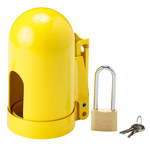 Brady Snap Cap Yellow Powder-Coated Steel Gas Cylinder Lockout Device 95137 - 5.004 in Width - 9.962 in Height - Low Pressure Gas Cylinders Compatibility - 754476-95137