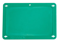 Brady 41929 Green Rectangle Plastic Blank Valve Tag - 4 in Width - 2 1/2 in Height - B-418