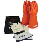 PIP Novax 147-SK Orange 9 Cowhide Leather/Rubber Electrical Glove Kit - 14 in Length - 147-SK-1/9