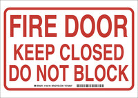 Brady B-401 High Impact Polystyrene Rectangle White Fire Exit Sign - 10 in Width x 7 in Height - 132144