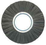 Weiler Silicon Carbide Wheel Brush 120 Grit - Arbor Attachment - 14 in Outside Diameter - 5 1/4 in Center Hole Size - 84640
