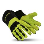 HexArmor Chrome Series Black/Lime 9 Welding & Heat-Resistant Gloves - 4084-L (9)