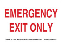 Brady B-586 Paper Rectangle White Emergency Exit Sign - 10 in Width x 7 in Height - 115924