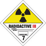 Brady 121441 Black / Red / White on Yellow Radiation Hazard Label - B-7569
