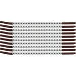 Brady Clip Sleeve SCN15-A Black on White Nylon Clip-On Sleeve - 33910