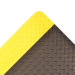 Notrax Cushion Trax Ultra 975 Yellow/Black PVC Diamond-Plate Anti-Fatigue & Ergonomic Floor Mat - 3 ft Width - 12 ft Length - 975 3 X 12 YB