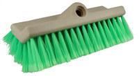Weiler 446 Bi-Level Scrub Brush - Green Nylex Fine Bristle - Foam Block - 44693