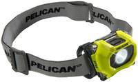 Pelican 2755 Headlamp - 34-72 Lumens White - (3) AAA 2 Modes - 2755 YLW