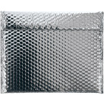 Shipping Supply Silver Glamour Bubble Mailers - 11 in x 13.75 in - SHP-3577