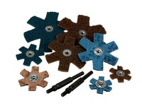3M Scotch-Brite SR-ZA Non-Woven Aluminum Oxide Blue Sanding Star - 1 1/2 in Diameter - Very Fine - 13800