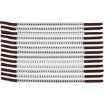 Brady Clip Sleeve SCN15-A-M Black on White Nylon Clip-On Sleeve - 33939