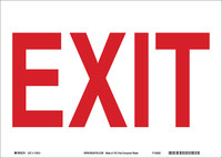 Brady B-586 Paper Rectangle White Exit Sign - 10 in Width x 7 in Height - 115914