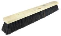 Weiler 700 Push Broom Head - Black Horsehair / Polystyrene Medium 3 in Bristle - 18 in Hardwood Block - 70067