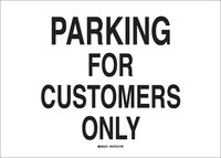 Brady B-555 Aluminum Rectangle White Parking Restriction, Permission & Information Sign - 14 in Width x 10 in Height - 43439