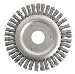 Weiler Steel Wheel Brush 0.02 in Bristle Diameter - Arbor Attachment - 4 1/2 in Outside Diameter - 7/8 in Center Hole Size - 13234